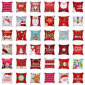 Roter-Weihnachtskissenbezug-45cm-45cm-quadratischer-Kissenbezug-Weihnachten