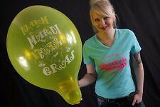 "3 x große TUFTEX 17"" Luftballons MARDI GRAS *KARNEVAL*FASCHING*TUF-TEX*"