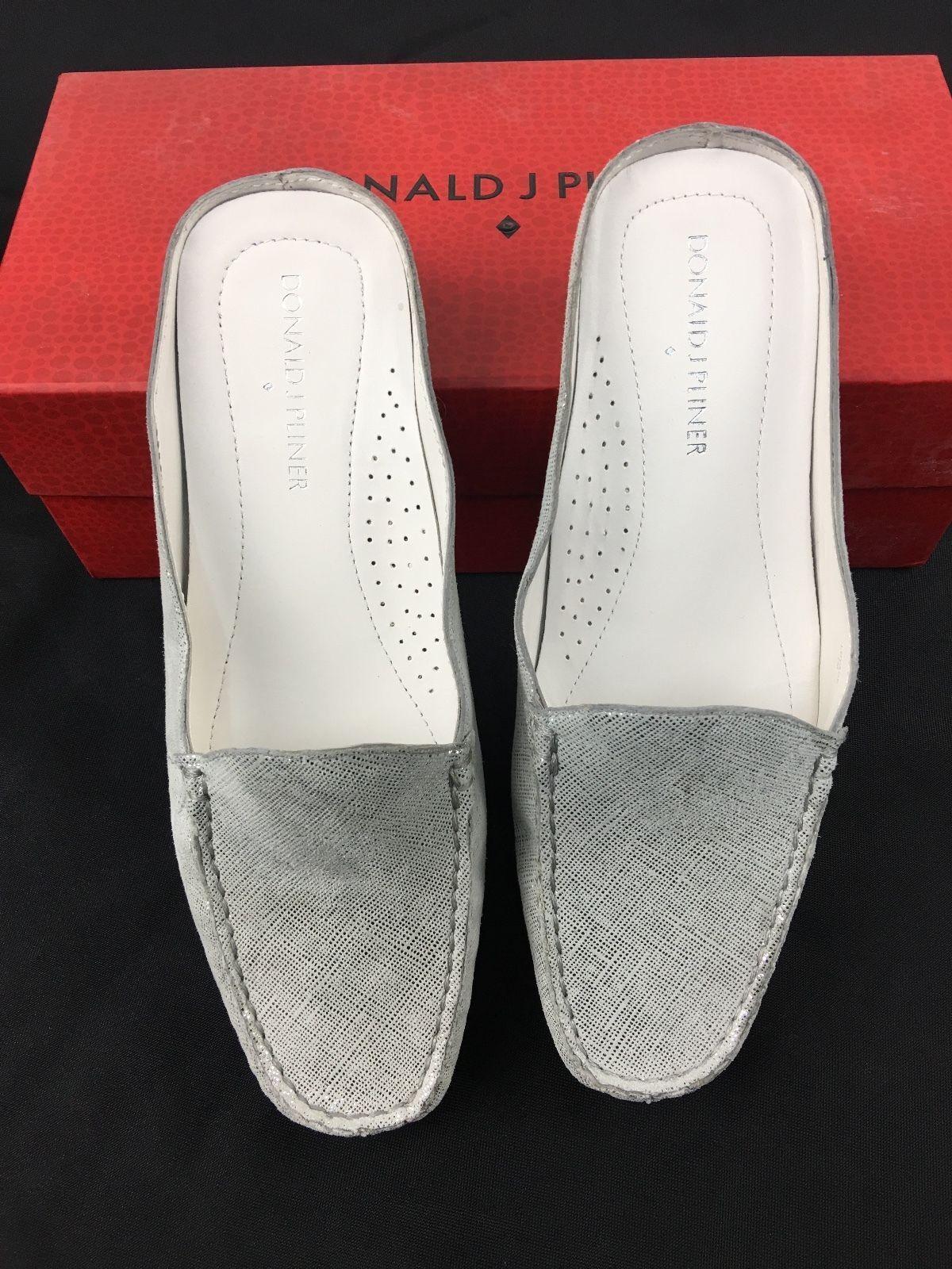 188.88 Donald J. Loafer Pliner Lovage Foam Vintage Metallic Leder Loafer J. Mule 6.5 4d928c