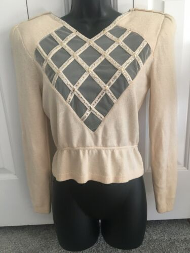 St. John For Neiman Marcus Vintage Sweater Ivory E