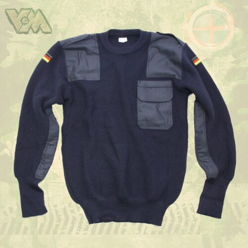 BW armée original pull bleu protection thermique protection Military pêcher Outdoor