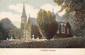 POSTCARD-BUCKINGHAMSHIRE-LATIMER-Church