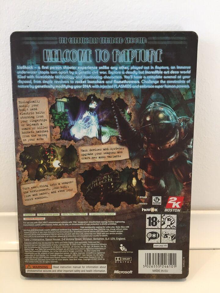 Bioshock - metal cover edition, Xbox 360, adventure