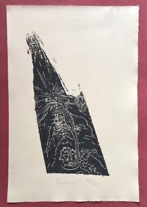 Jonas-Hafner-Umbria-1989-1997-taglio-di-legno-firmato-a-mano-e-datata