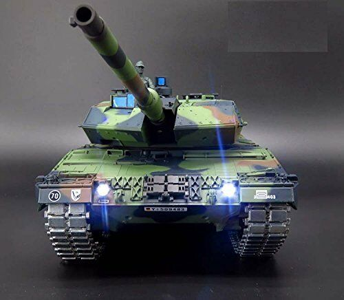 Heng long radio remote controlled Leopard 2A6 tank BB shooting 2.4 G 1 16  PRO