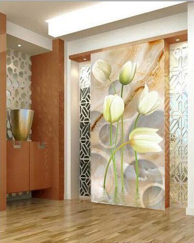 3D Weiße Tulpen Tulpen Tulpen 73 Tapete Wandgemälde Tapete Tapeten Bild Familie DE | Sale Deutschland  | Hochwertige Materialien  |  648cf4