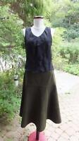 Talbots Olive Green Skirt, Full Flowing Style, Size 12. Belt Loops