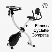 CYCLETTE PIEGHEVOLE X-BIKE CARDIO FITNESS SALVASPAZIO RICHIUDIBILE YM PORTA PC