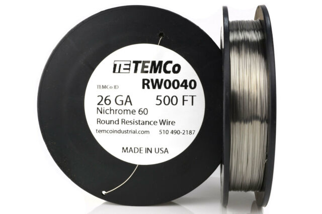 Nichrome 60 resistance wire gauge 28 AWG 500 feet