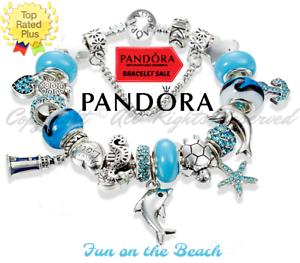 Blue And Silver Dolphin European Charm Bracelet