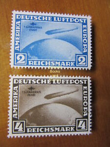 EBS-Germany-1930-Zeppelin-South-America-set-Michel-438-439-REPRINTS