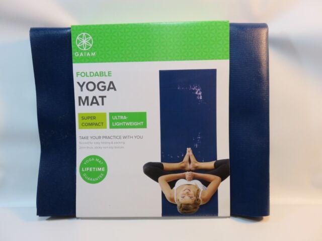 ade25625ffe GAIAM Yoga Mat Blue Super Compact Ultra-Lightweight POPSUGAR NEW & UNUSED