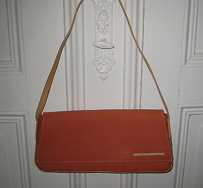 Francesco Biasia Tasche, schöne Handtasche, Clutch Leder + Stoff, 100 % Original