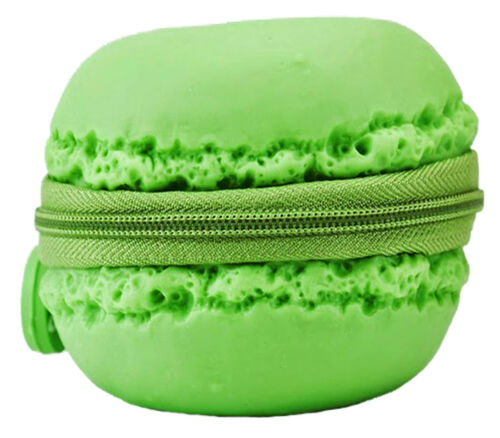 Scented Green Mint Macaron Cookie Coin Purse