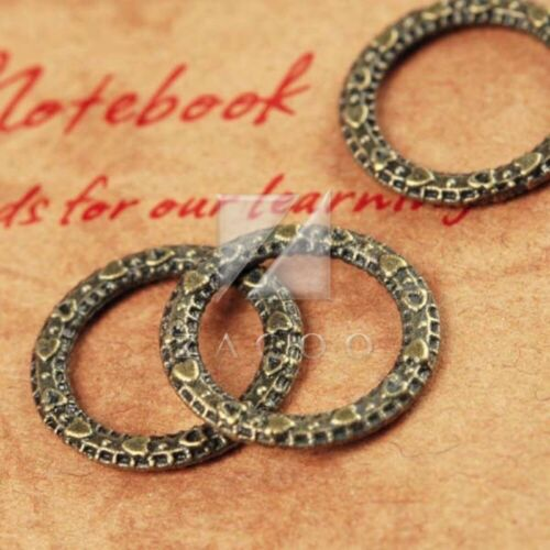 100pcs Antique Brass Metal Link Connectors Jewelry Finding Ring 14.5mm BW