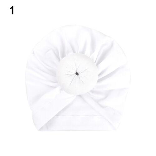 CW/_ Newborn Toddler Kids Baby Boy Girl Indian Turban Knot Cotton Beanie Hat Cap