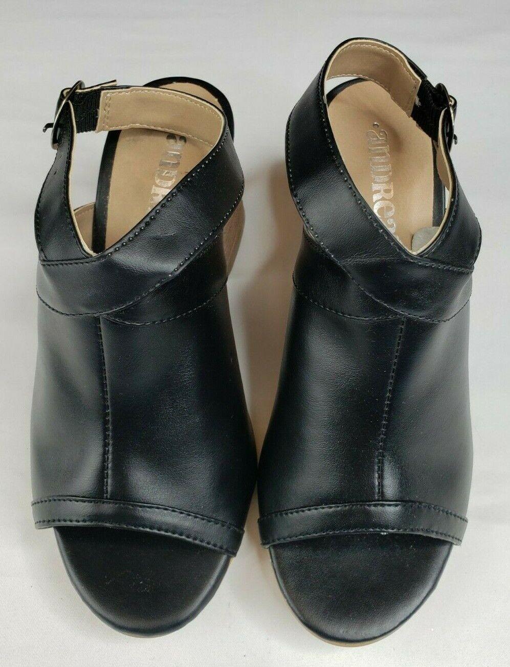 Andrea Women's Black High Heel Shoes Size 5