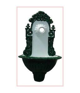 Gartenbrunnen Wandbrunnen Bassena Brunnen Grün Weiss 208wg2 Mit