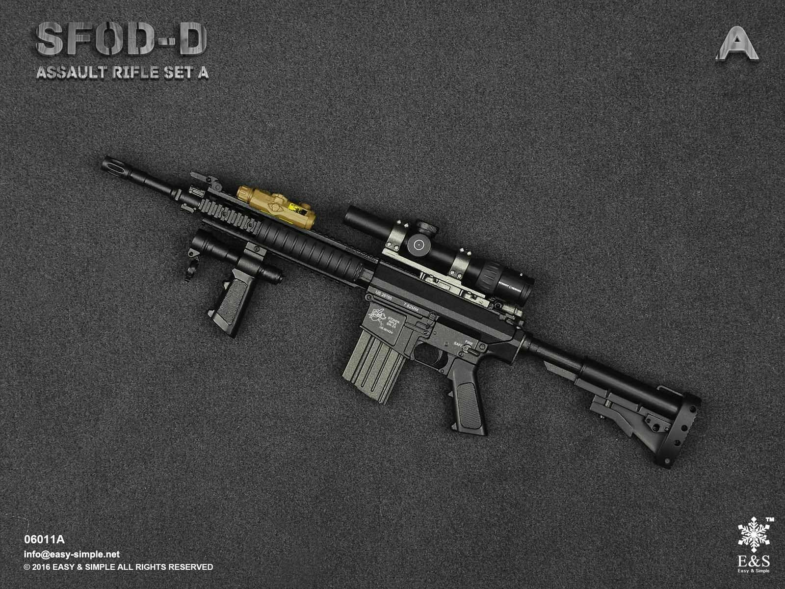 Easy & Simple 1/6 Scale 06011A SFOD-D Assault Rifle Set A