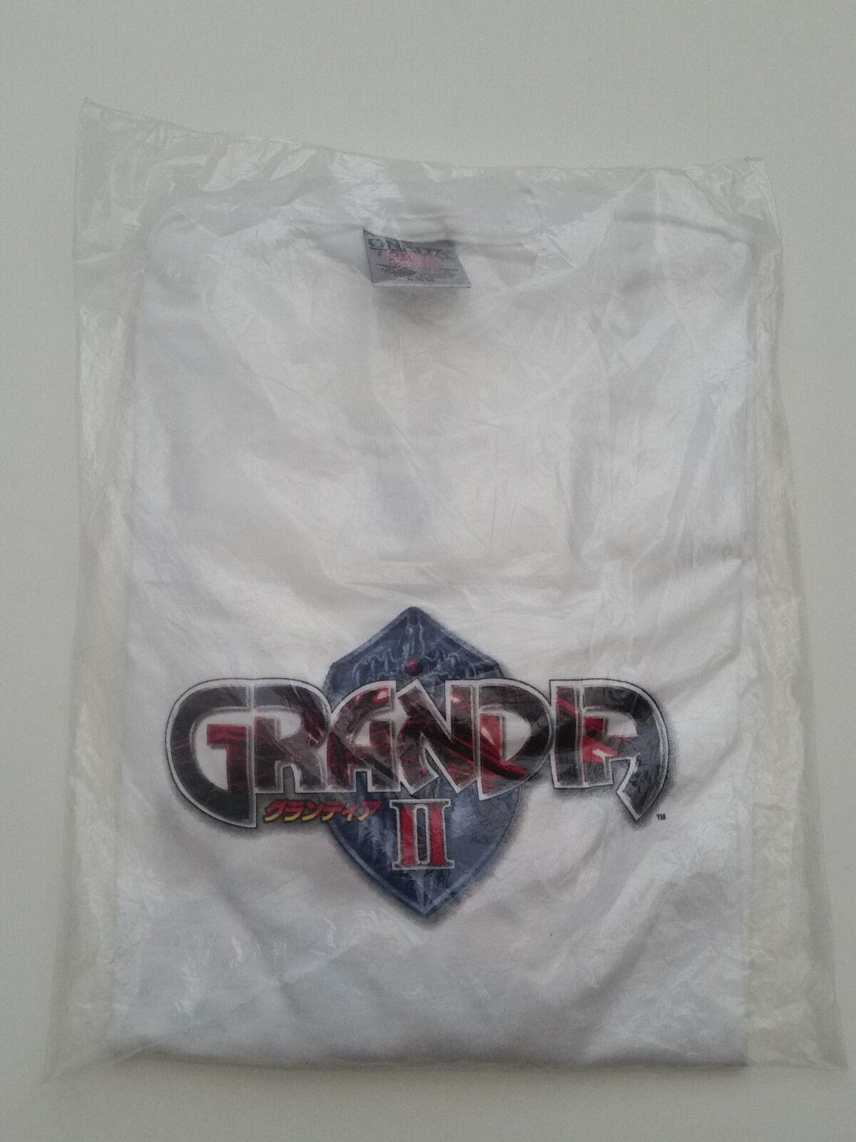 Grandia 2 II Sega Dreamcast rare collectable vintage videogame anime t-shirt XL