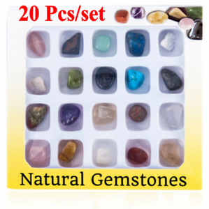 Set of 20 Healing Crystal Natural Gemstone Reiki Chakra Collection Stone Kit