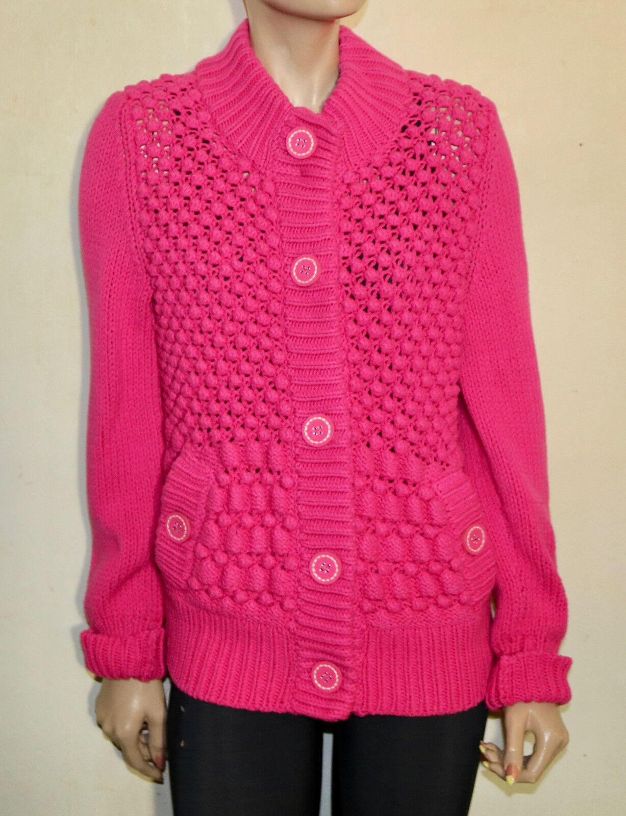 Escada Sport Sport Sport knit pink cardigan sweater M a6664b