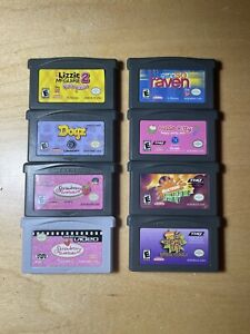 GameBoy 8 game lot, all tested-Lizzie McGuire, Hello Kitty, Strawberry Shortcake