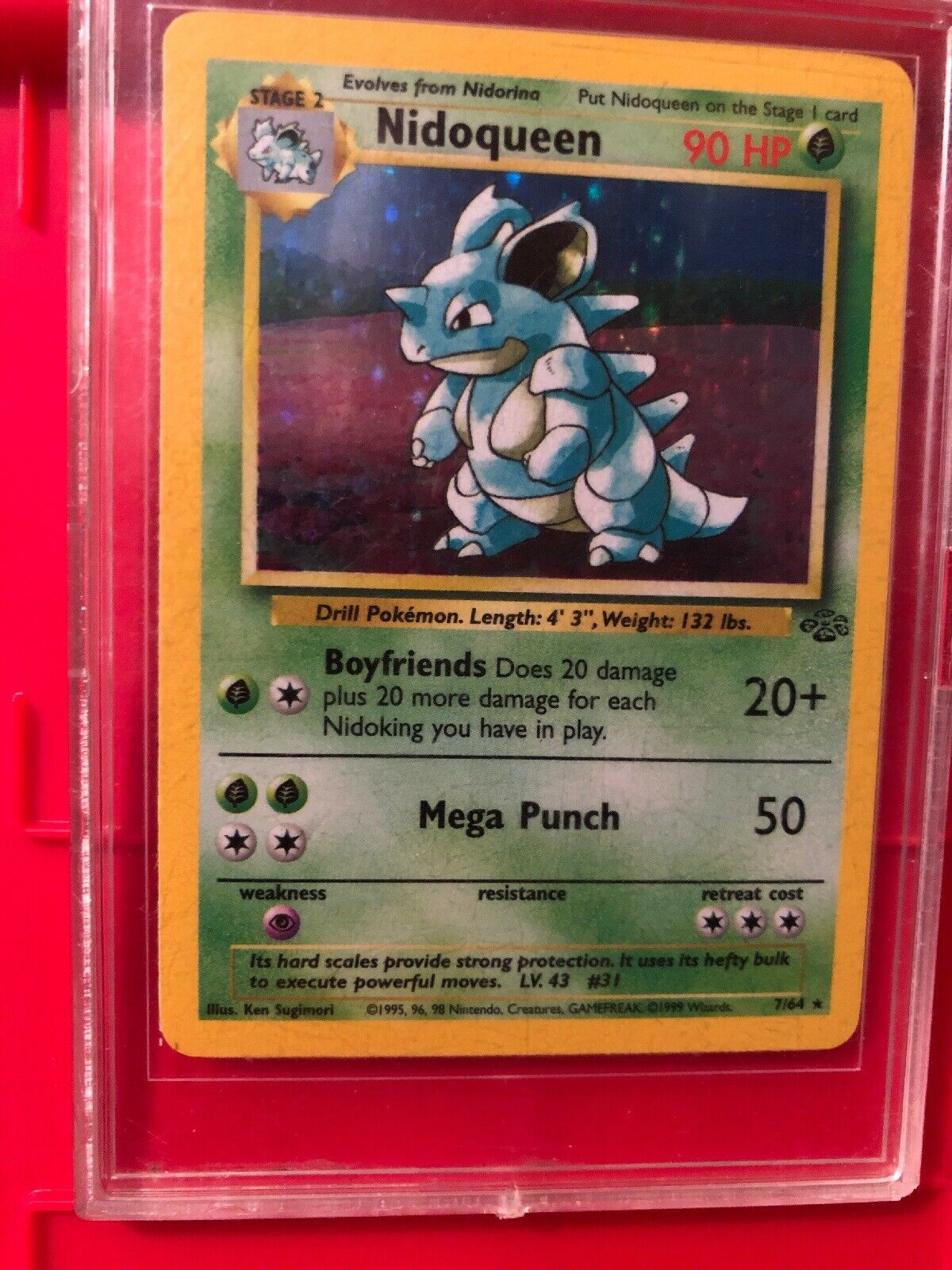 Nidoqueen Holo Rare MINT Jungle NEVER PLAYED 7 64 1995