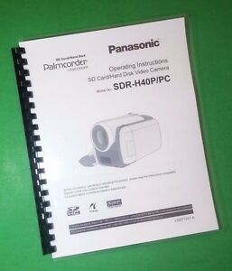 laser printed panasonic sdr h40p pc video camera 128 page owners rh ebay com