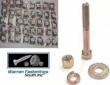 Assortment Kit Grade 8 Bolt Nut Flat Amp Lock Washers 1496 Pieces Yellow Zinc