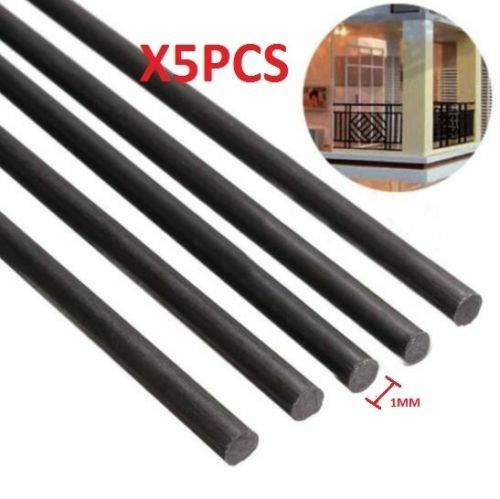 5pcs 1mm Diameter x 500mm Carbon Fiber Rods For RC Airplane High Quality Pole A