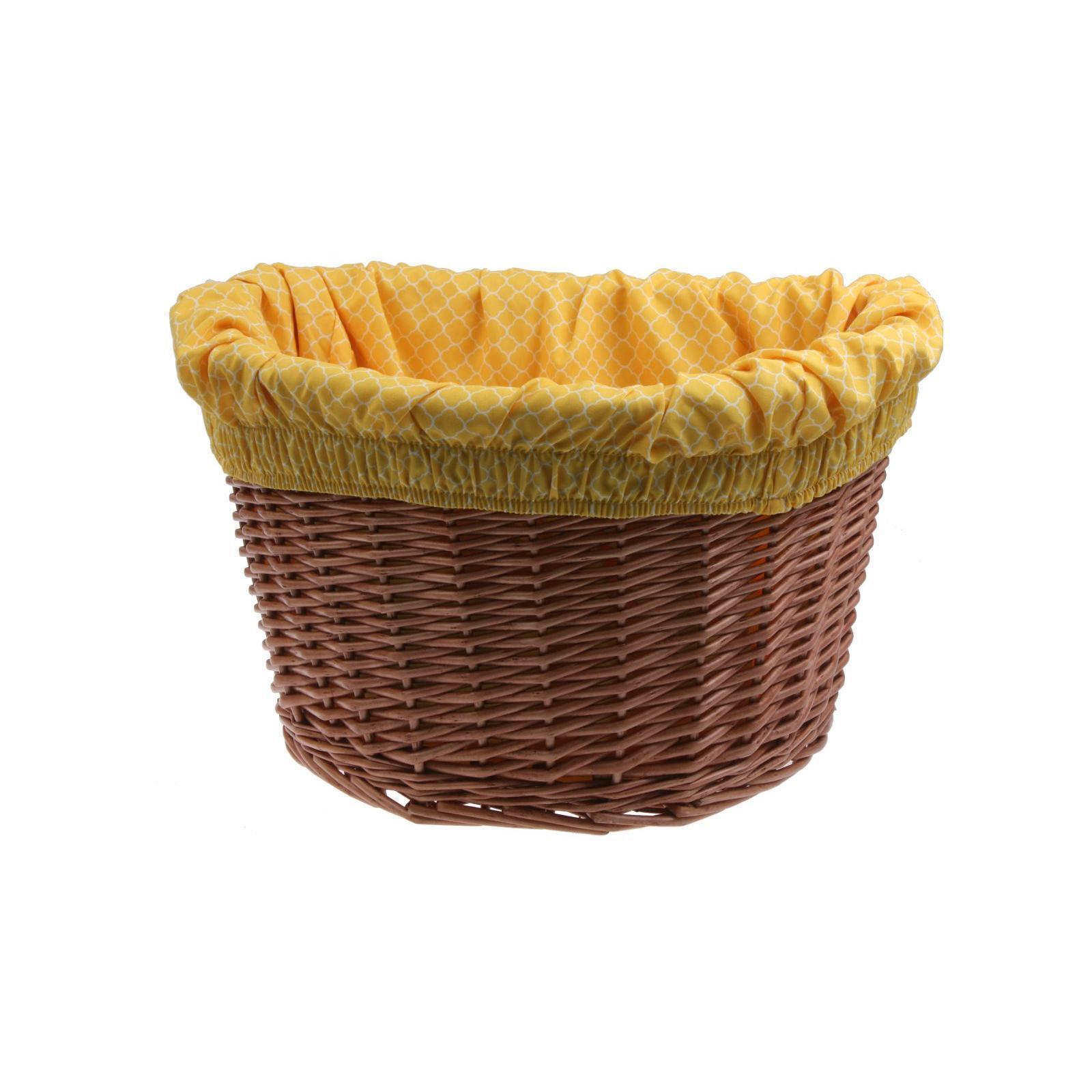 Electra bicicleta pastos cesta Wicker con bolso amarillo blancoo Basket Liner cesta uso
