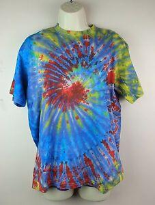 Tie-Dye-T-Shirt-Top-Retro-Festival-Hippy-Batik-Tye-Die-Rave-T-Shirt-Nepal-TD7