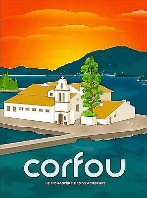 Greece Greek Mount of Athos Europe European Vintage Travel Advertisement Poster