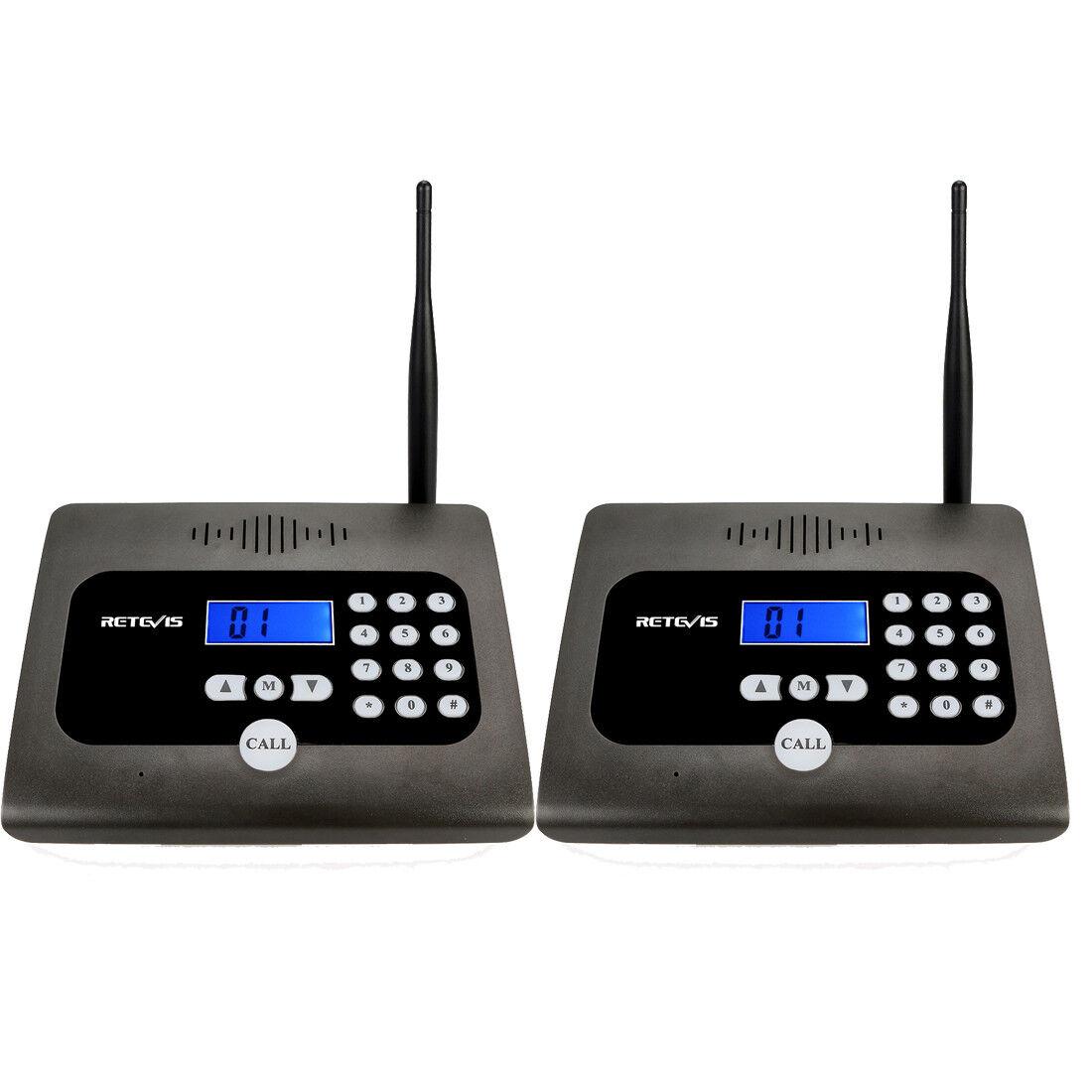 2 xretevis RT57 Inalámbrico Sistema De Intercomunicación llamando Uhf 10CH comunicación bidireccional