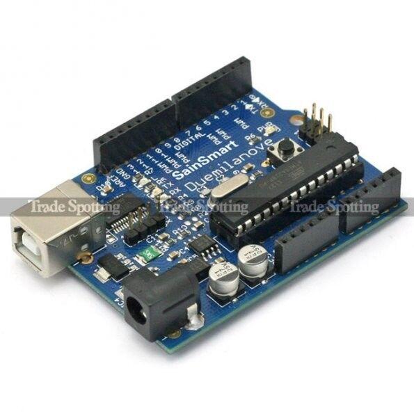 New SainSmart Duemilanove Board ATMega328-PU for Arduino Robot Free USB Cable