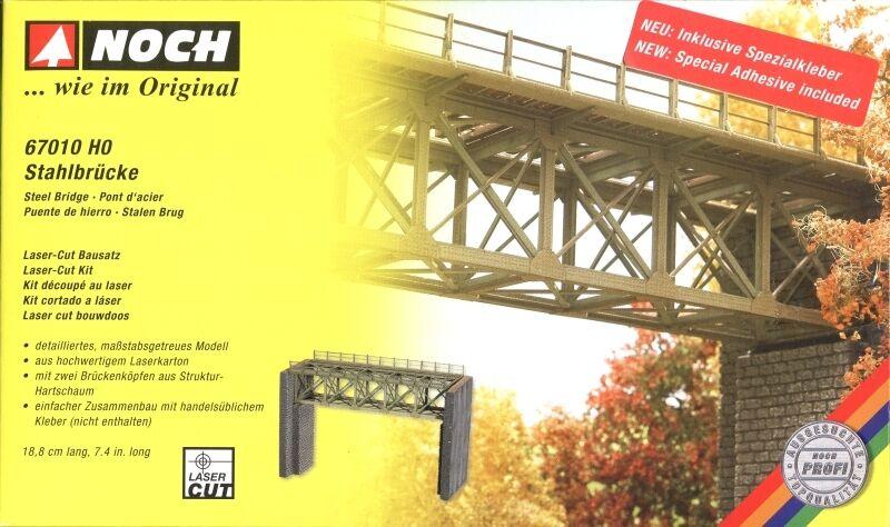Noch Steel Bridge with Piers 67010 HO & OO Scale