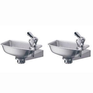 Elkay-Bracket-Steel-Indoor-Outdoor-Wall-Mount-Water-Drinking-Fountain-2-Pack