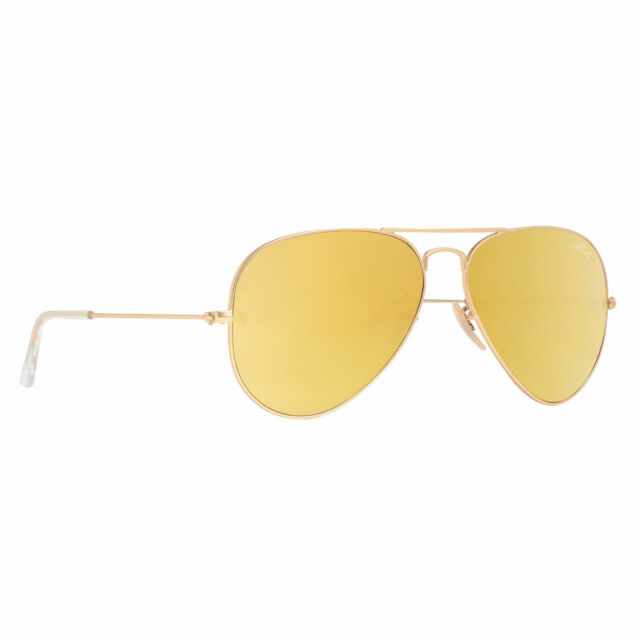 Authentic Ray-Ban Aviator Rb3025 112/93 58 Gold Yellow Flash Womens ...