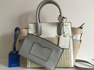 WOMAN-S-HANDBAG-PURSE-REED-WITH-HANDLES-AND-SHOULDER-STRAP-NEUTRAL-COLORS-NEW