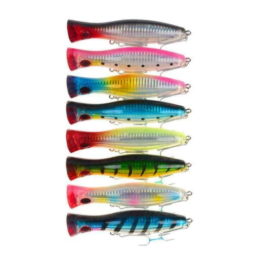 1pc Big Mouth Popper Lure Top Water Fishing Lure 12cm Big 40g Game Trolling M6R3