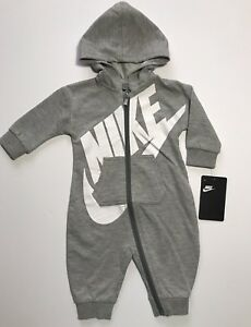 531a30c7a4fc NWT Nike Futura Infant Coverall Hoodie Outfit 0 3M 3 6M 6 9M 9 12M ...