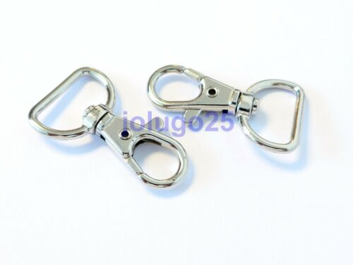 100 Metal Swivel Clasps Lobster Clasps Snap Clips For Paracord  #3750-100