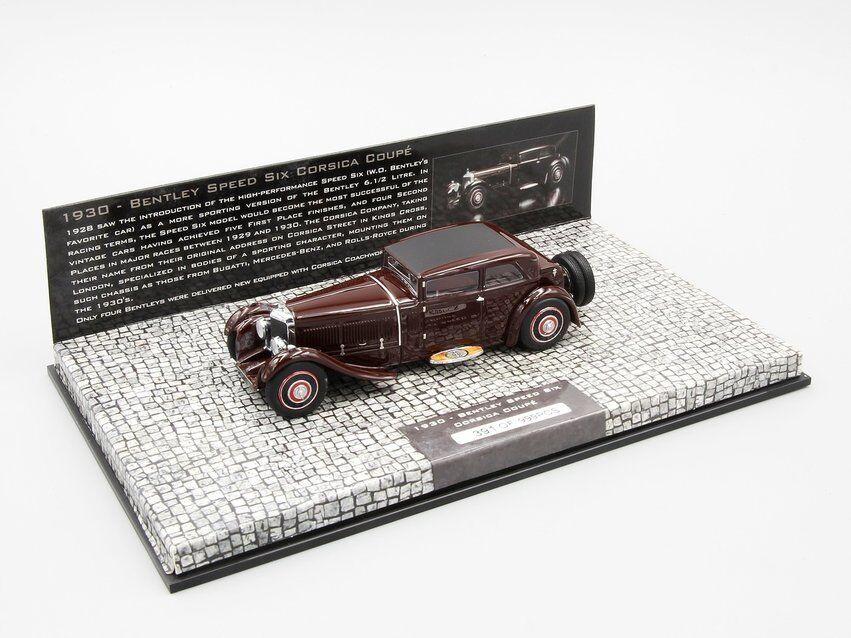Mini campeón 1  43 Bentley a 6 córcegas, Cochero deportivo 1  30, rojo oscuro.