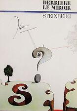 SAUL STEINBERG - DERRIERE LE MIROIR ORIGINAL LITHOGRAPH - 1966 - FREE SHIP IN US
