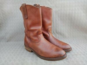 Vintage Red Wing Engineer Brown leather Boots size 8 EE made in USA