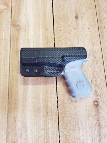 32 Black Carbon Fiber Kydex holster IWB right Concealment Fits Glock 19 23