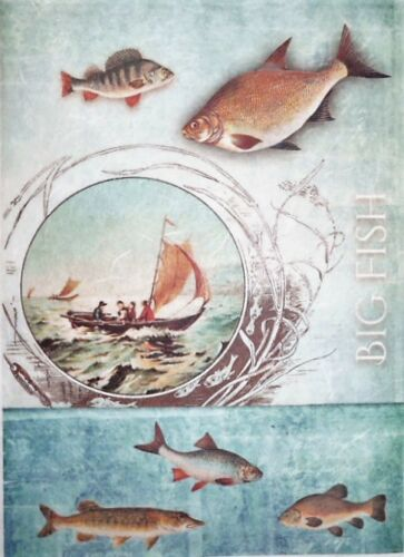 Rice Paper Big Fish for Decoupage Scrapbook and Crafting 83