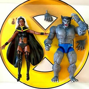 STORM-amp-BEAST-X-Men-Lot-Marvel-Legends-2-pack-Giant-Size-retro-no-Thunderbird