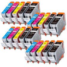 20 Pk Printer Ink With Chip for Canon PGI-5BK CLI-8 Pixma MP600 MP800 830 MX850